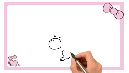 卡通金丝猴简笔画