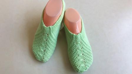 一线连地板袜的编织方法,不断线不缝合,舒适合脚,简单易织高清视频