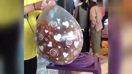 牛人创意:上海街头的气球为什么不跑气?什么原理呢?