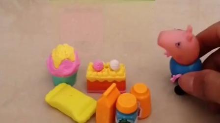 乔治给家人买了糖果,大家快来看看,怪兽也想要糖果