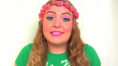新式草莓蛋糕化妆教程,草莓女孩你爱了么,看起来甜甜的呦