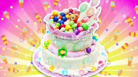 小熊的生日祝福,双层小熊泡芙蛋糕