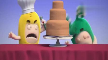 奇宝可爱兵:绿宝为了偷吃生日蛋糕,没想到然躲在蛋糕里,太有趣啦