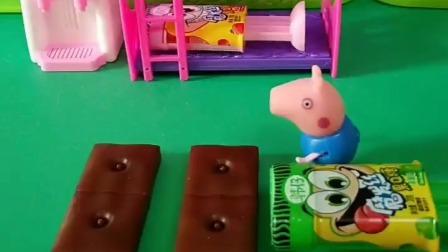 乔治带着好几个糖回来了,把他们放在床上之后,自己就去睡觉了
