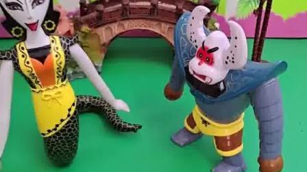 蝎子精抓住了小鬼,蛇精非常害怕,这是怎么回事?