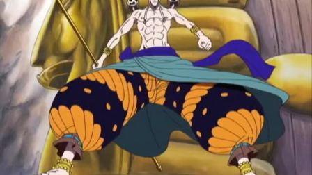 海贼王:路飞与艾尼路的天敌之战,雷神惊出表情包!