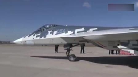 俄罗斯苏-57战斗轰炸机,矢量发动机性能优越!