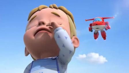 超级飞侠:冰淇淋被摔坏了,艾丹准备哭了起来!