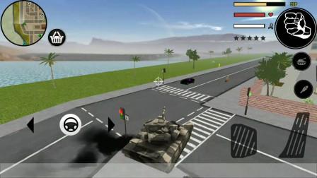 火柴人绳索英雄:火柴人开坦克能撞毁卡在石头旁边的越野车吗