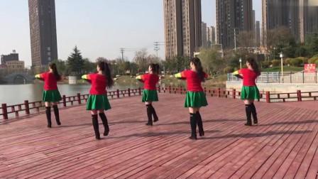 广场舞《爱疯了》正背面演示加分解动作教学