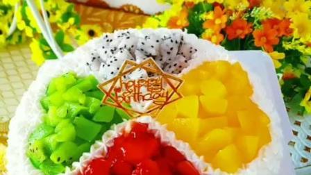 四叶草心形水果蛋糕做法