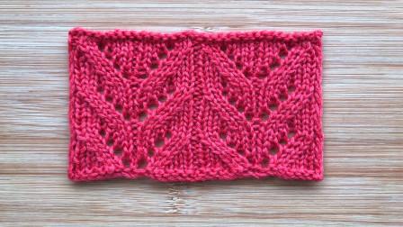 镂空叶子花的编织方法,简单易织,简洁唯美,织开衫很大方高清视频