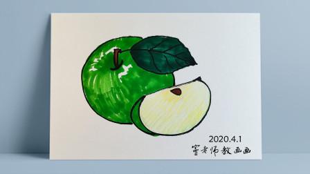 画苹果窦老师教画画