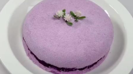 不用打发,不用烤箱就能做的紫薯蛋糕