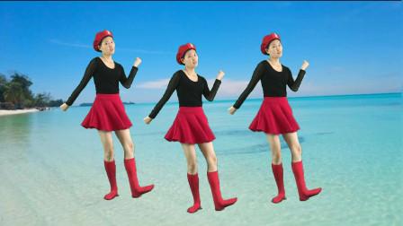 正能量健身舞《厉害了我的国》歌唱人民美好生活,健康美丽跳出来