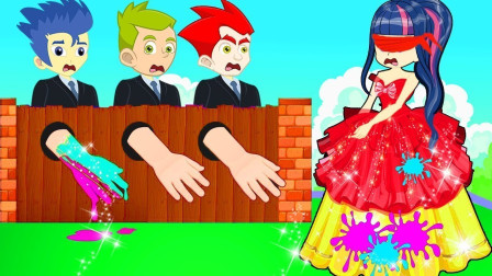 紫悦的礼服被弄脏了,是谁干的呢?小马国女孩游戏