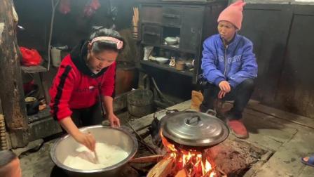 农村挂亲看看小潘都做什么好吃的,拿去祭拜祖先,这也是一种习俗