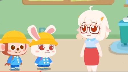 宝宝巴士趣味游戏 进幼儿园老师必须先给小朋友卫生,量体温