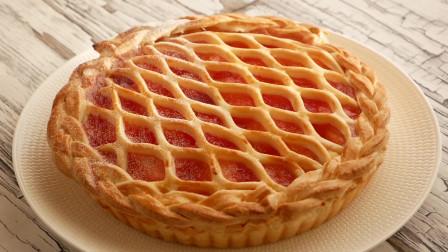 """烘焙进阶,最简单的方法,教你制作最漂亮的""""红苹果派"""" 附配方"""