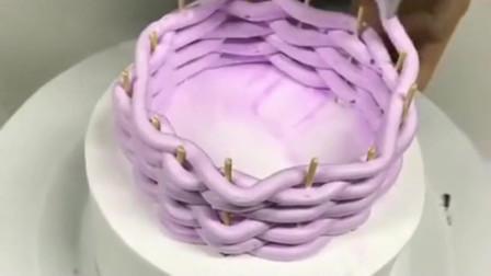 不一样的蛋糕做法,大神独家编织3d蛋糕,看到成品意外了!