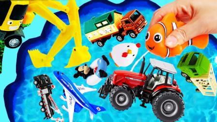 汽车总动员,和小朋友们最喜欢的小汽车一起学习简单的英文单词