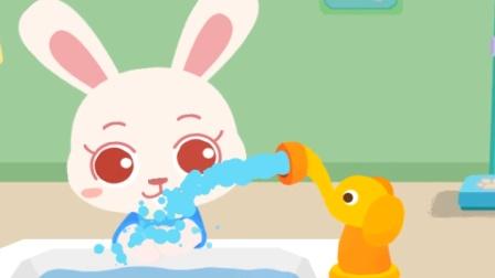 宝宝巴士趣味游戏 进入幼儿园先要卫生,勤洗手,讲卫生