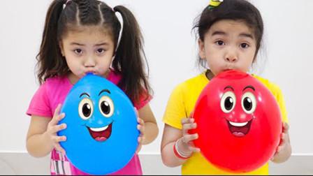 苏瑞和安妮在玩儿童魔术气球