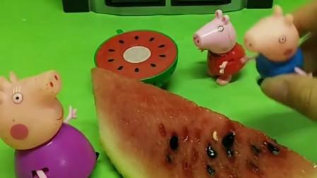 猪奶奶给佩奇和乔治分了西瓜,可是佩奇说奶奶偏心,大家知道为啥吗