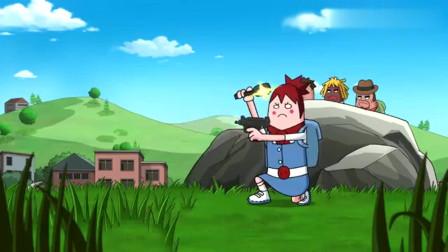 搞笑吃鸡动画:萌妹一喝酒就会大杀四方,都是她的心理作用