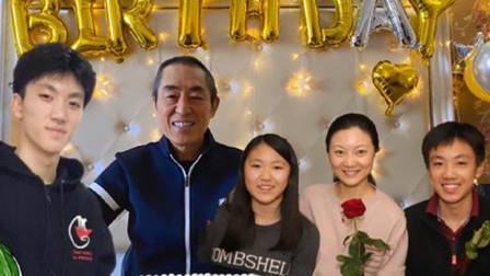 酷的娱乐圈 2020 秀恩爱!陈婷PS全家福为张艺谋庆生 贴心送生日蛋糕