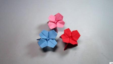手工折纸四瓣花,步骤详细,简单又漂亮超喜欢