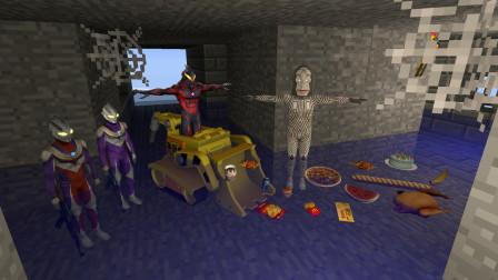 GMOD游戏迪迦奥特曼找到了被怪兽丢弃在下水道的零食