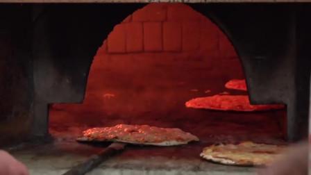 实拍:意大利罗马美食,炭烤芝士薄披萨,中国食客一定品尝