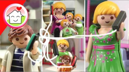 益智玩具亲子游戏:太好玩了,小萝莉小正太一家欢乐传声筒游戏!