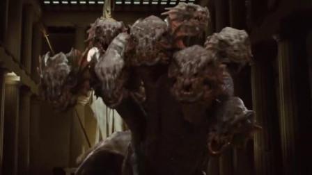 小伙拿出美杜莎的头颅,九头蛇还想攻击他,不料等下就被石化了