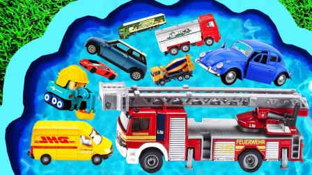 儿童玩具早教乐园:闪电麦昆、商务车、油罐车、环卫车、消防车、压路机、推土机!