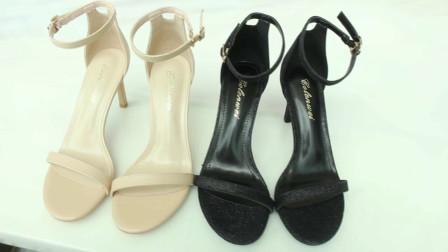 夏季百搭露趾一字带女鞋,时尚高挑显气质!