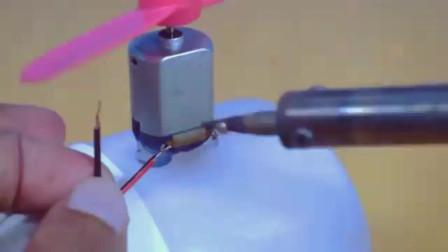 原来直升机玩具这么这么简单,就用小马达就行了