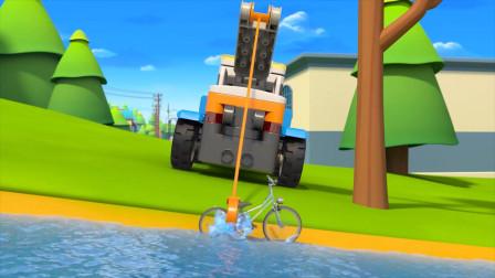 第一次知道清障车还能用来打捞