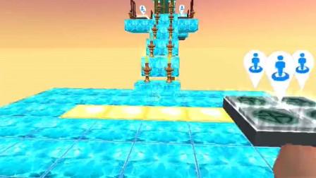 迷你世界:小果挑战钻石酷跑,没想到到处都是岩浆,这要怎么过去啊