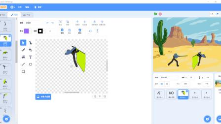 Scratch少儿编程培训 免费视频课程 火柴战系列游戏设计开发-第三课-连招(咕噜一家出品)