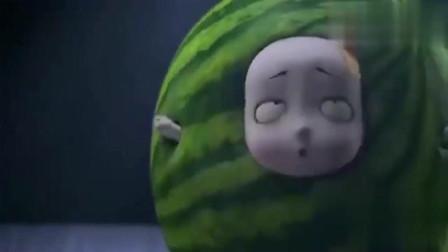 叫我僵小鱼:小鱼变成西瓜了,粑粑如何拿着水果刀过来了