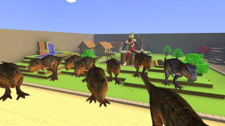 GMOD游戏迪迦奥特曼养一群恐龙干什么呢?