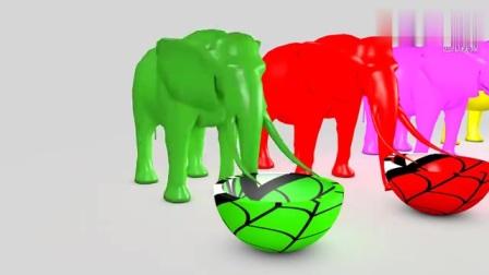 益智色彩动画:喜欢吃汉堡的大象魔法大变身