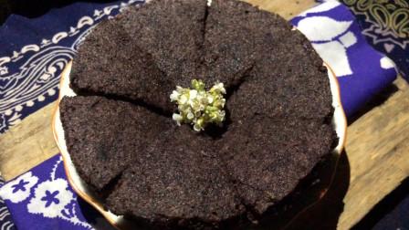 不用烤箱,蒸出来的黑米蛋糕,比卖的还好吃