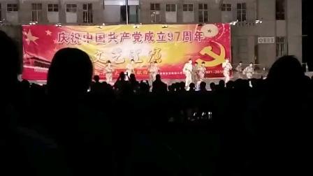 云南铜业高级技工学校中铝大学分校第32届学生会2018年共产党成立97周年文艺汇演校纪队《军体拳》表演