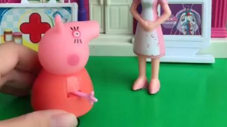 猪妈妈沉迷游戏不管乔治,打完游戏后,才发现乔治从高处摔下来了