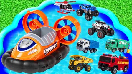 汽车玩具总动员,消防车、校车、警车,一起来学习英语吧