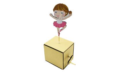 小姑娘最爱手工制作!用纸板就能制作会跳芭蕾舞的小玩具
