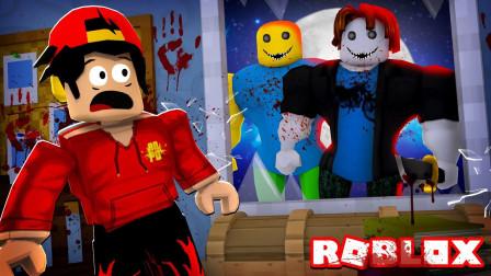 Roblox乐高小游戏小格解说 第一季 可怕培根头:惊险游戏厅逃生!开局遭遇培根头?